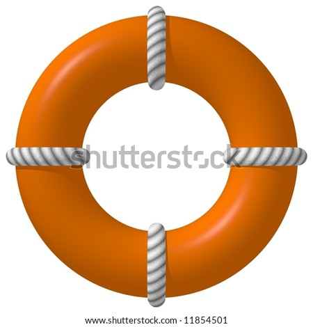 Perfect life saver isolated on white - stock photo