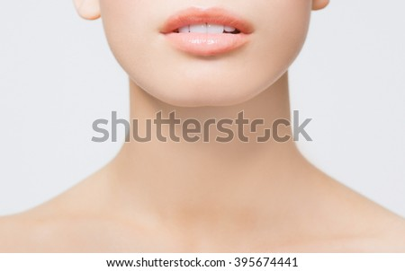 Perfect Lips - stock photo