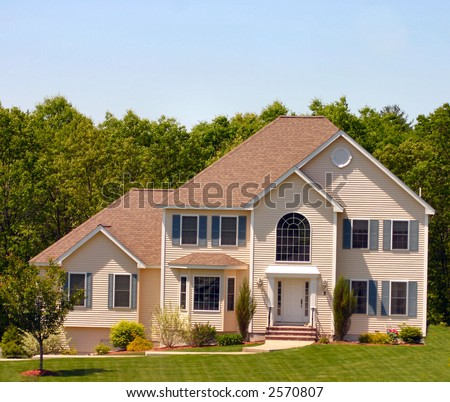 Perfect Modern American Home - stock photo