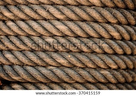 Perfect old yellow rough rope texture background  - stock photo