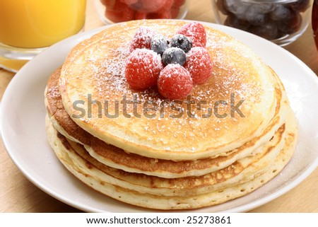 Perfect pancakes  made with organic fresh ingredients