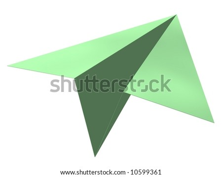 Perfect paper airplane isolated on white