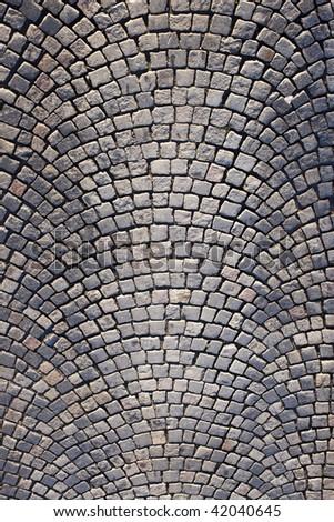 perfect pave stones - stock photo