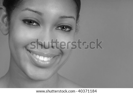 Perfect Portrait of a Happy Afro American Woman