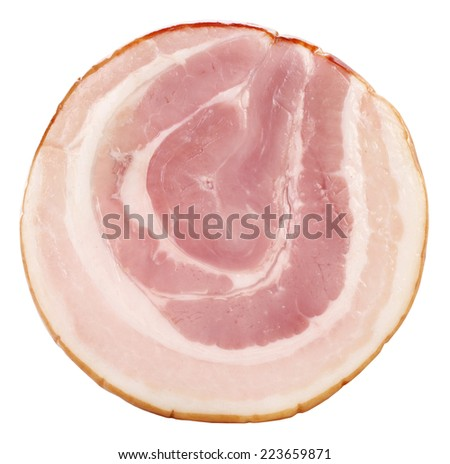 Perfect rolled bacon - stock photo