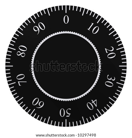 Perfect safe dial isolated on white - stock photo