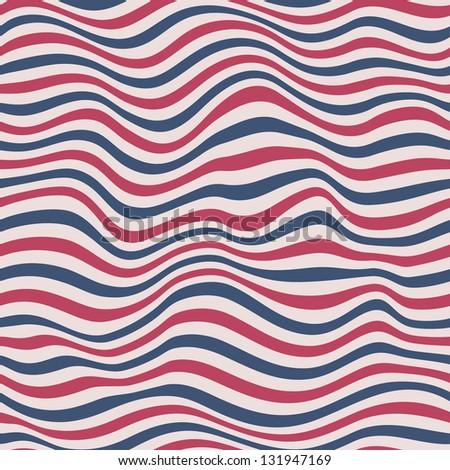 Perfect seamless striped pattern - stock photo