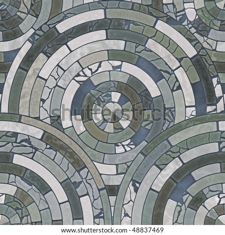 Perfect seamless tiling floor mosaic.