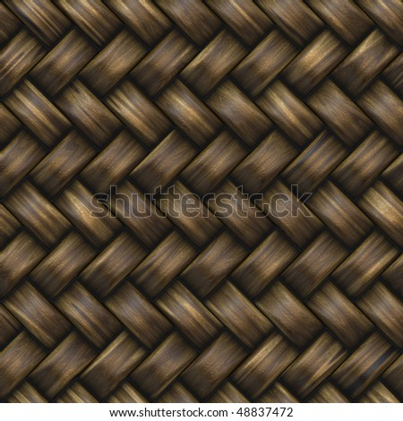 Perfect seamless tiling wicker texture. - stock photo