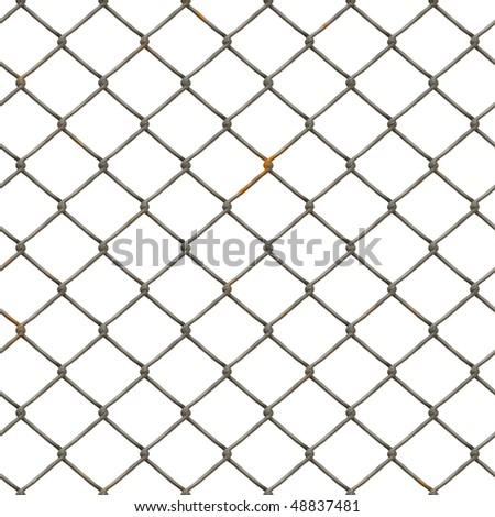 Perfect seamless tiling wire fence texture with rust. - stock photo