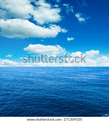perfect sky and ocean - stock photo