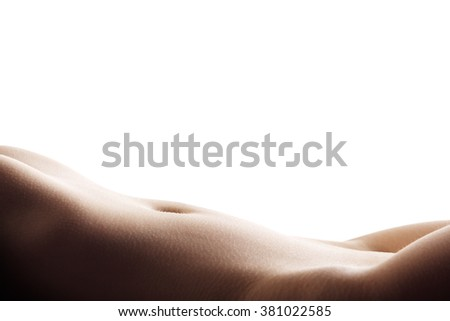 Perfect slim body of young woman - stock photo