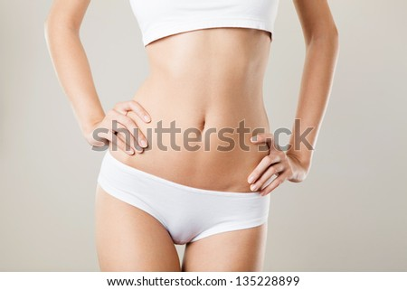Perfect Slim Woman Body. Diet Concept - stock photo