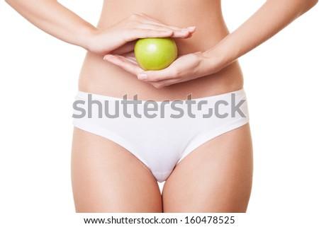 Perfect Slim Woman Body. Diet Concept - stock photo