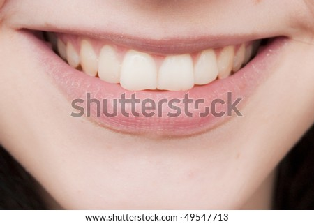 Perfect Smile with natural teeth - stock photo