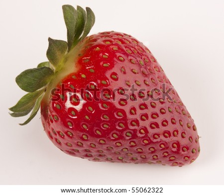 Perfect strawberry isolated - stock photo