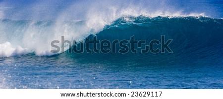 Perfect Wave Panorama - stock photo
