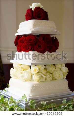 perfect wedding cake - stock photo