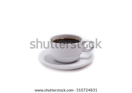 Perfect white coffee cup isolated on white