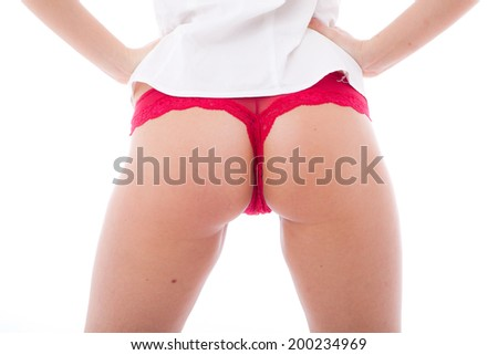 Perfect Young Woman Backside  - stock photo