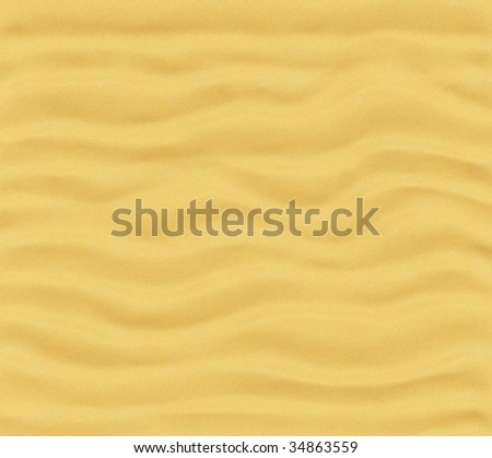 Perfectly clean sand texture; made with 3D. Not tiled. - stock photo