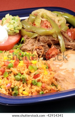 perfectly made mexican  beef  delicious aromatic slow down cooked  with hot  and sweet peppers