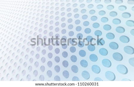 Perforated Panel - stock photo
