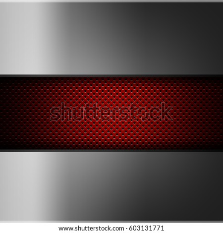 Perforated Red Metallic Background Abstract Wallpaper