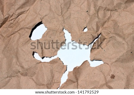 perforation in the paper that there is no uniform - stock photo