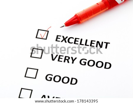Performance check form - stock photo