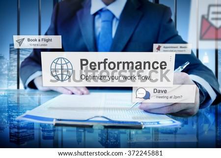 Performance Level Development Accomplishment Concept - stock photo