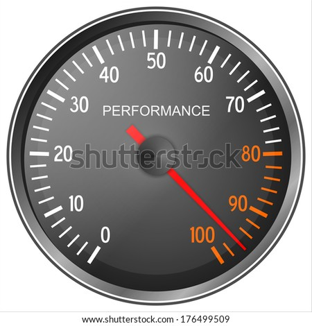 Performance meter isolated on white background   - stock photo