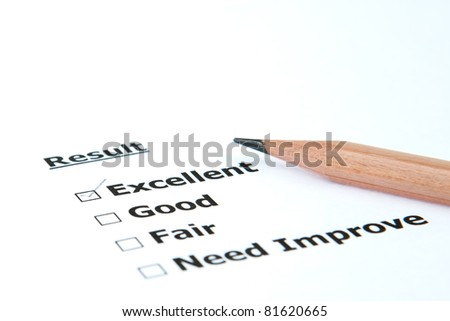 Performance result Excellent - stock photo