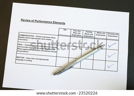 Performance survey concept for management and many uses - stock photo