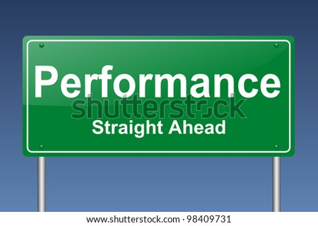 performance traffic sign - stock photo