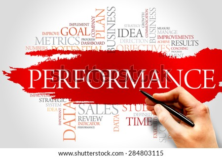 Performance word cloud, business concept - stock photo