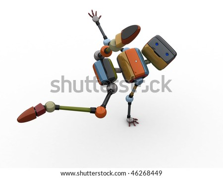 Performing Robot - stock photo