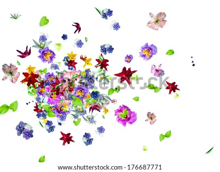 Perfume and smelling aroma - stock photo