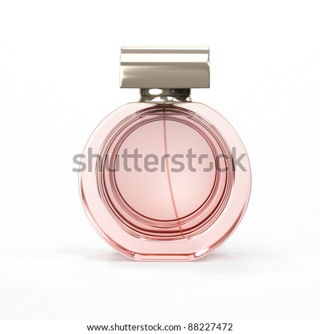 Perfume bottle, close-up - stock photo