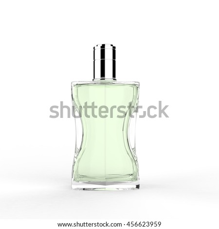 Perfume bottle. 3D Rendering.
