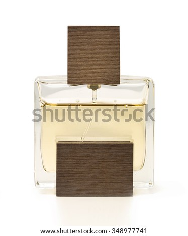 Perfume bottle isolated  - stock photo