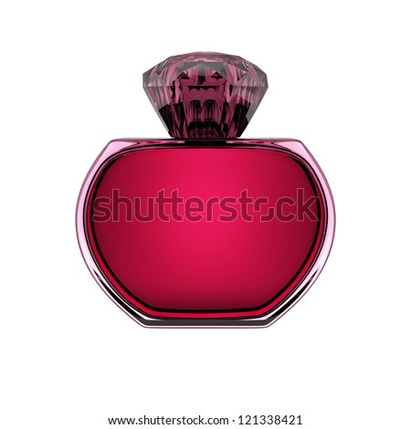 perfume bottle isolated over a white background.