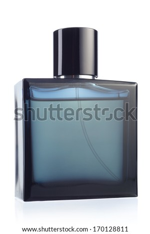 Perfume bottle over a white background  - stock photo
