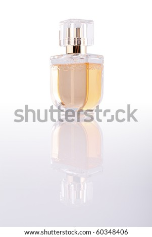 Perfume bottle (with clipping path) - stock photo