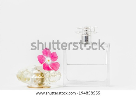 Perfume Bottles over white
