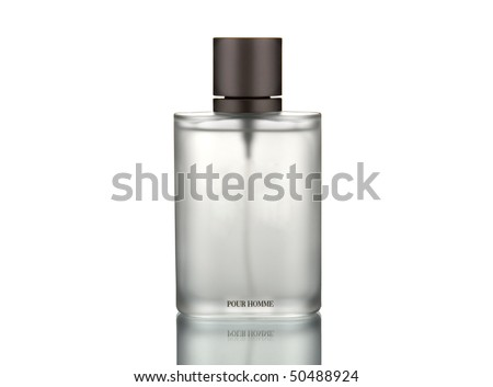 perfume for men isolated on white - stock photo