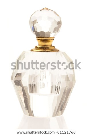 perfume isolated on a white background - stock photo