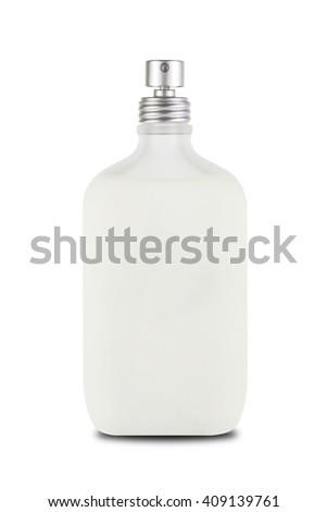 perfume spray bottle isolated on white background - stock photo
