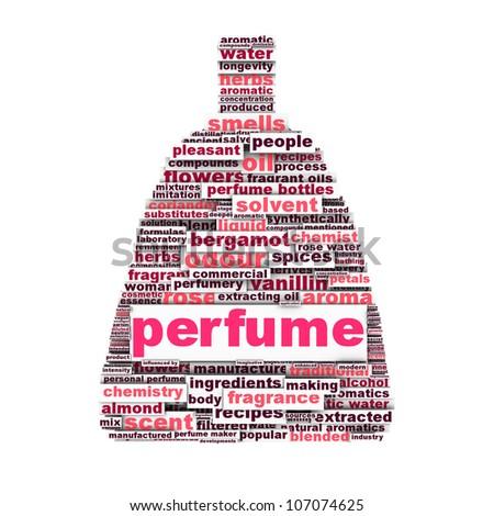 Perfume symbol aroma silhouette conceptual design - stock photo