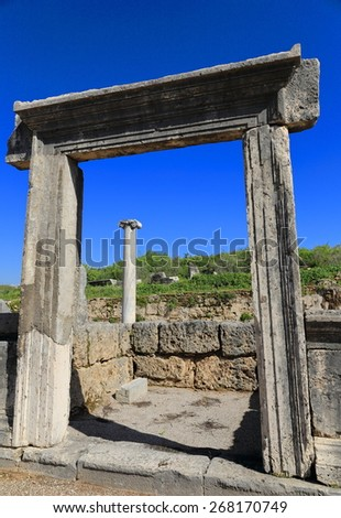 Perge-Lycia coast-Turkey